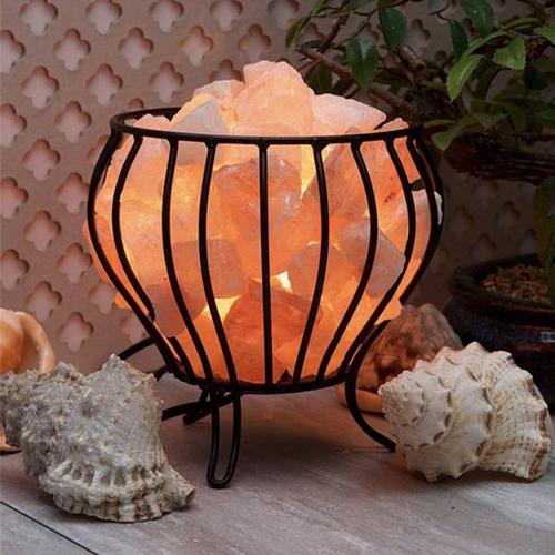 IRON BASKET LAMP